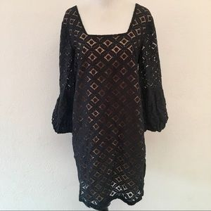 f6cc1373 Anthropologie Dresses - Anna Sui for Anthropologie Lace Black Shift Dress